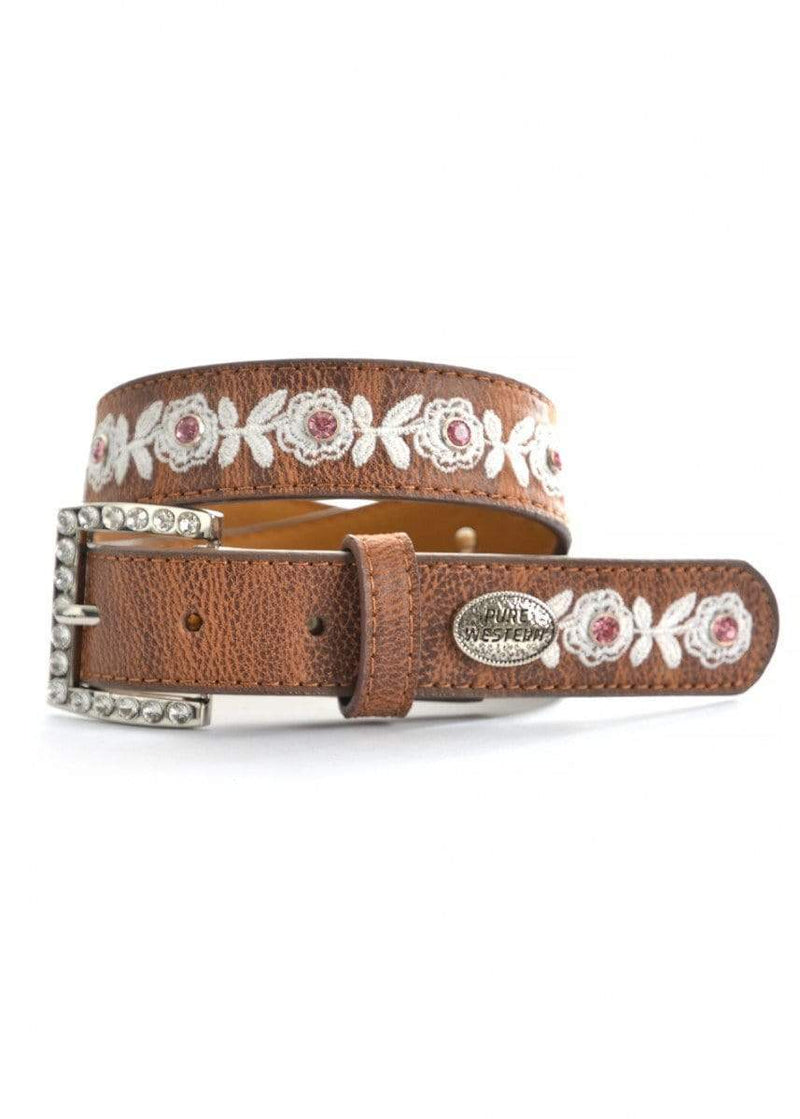 Pure Western Kids Florence Belt Brown (P9S7931BLT) - Gympie Saddleworld & Country Clothing