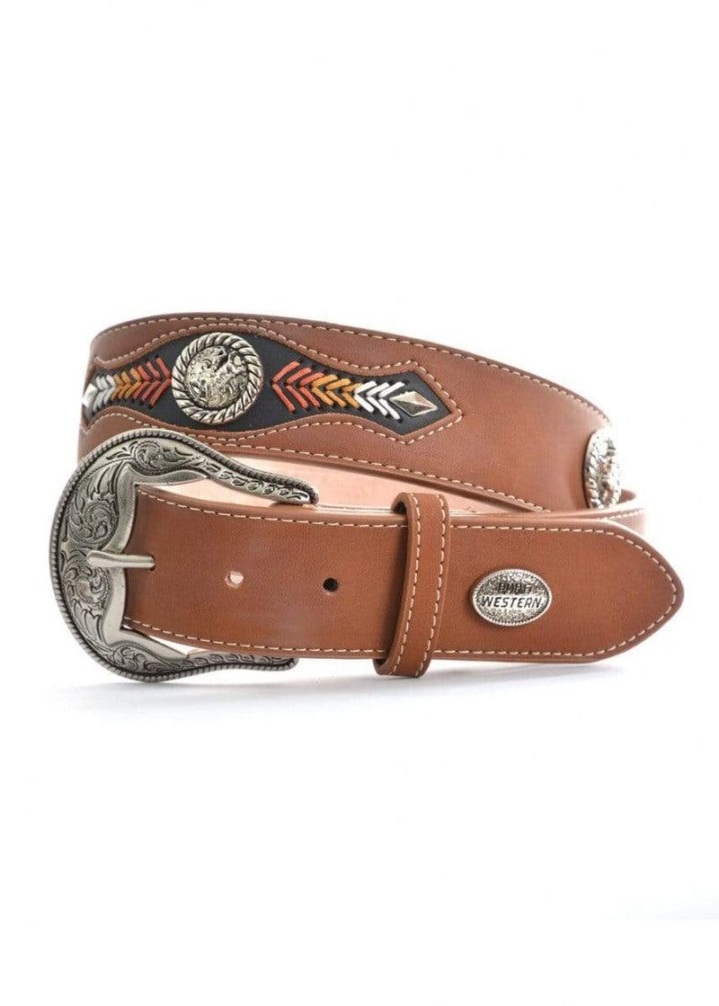 Pure Western Mens Marcus Belt Dark Tan (P9S1923BLT) - Gympie Saddleworld & Country Clothing
