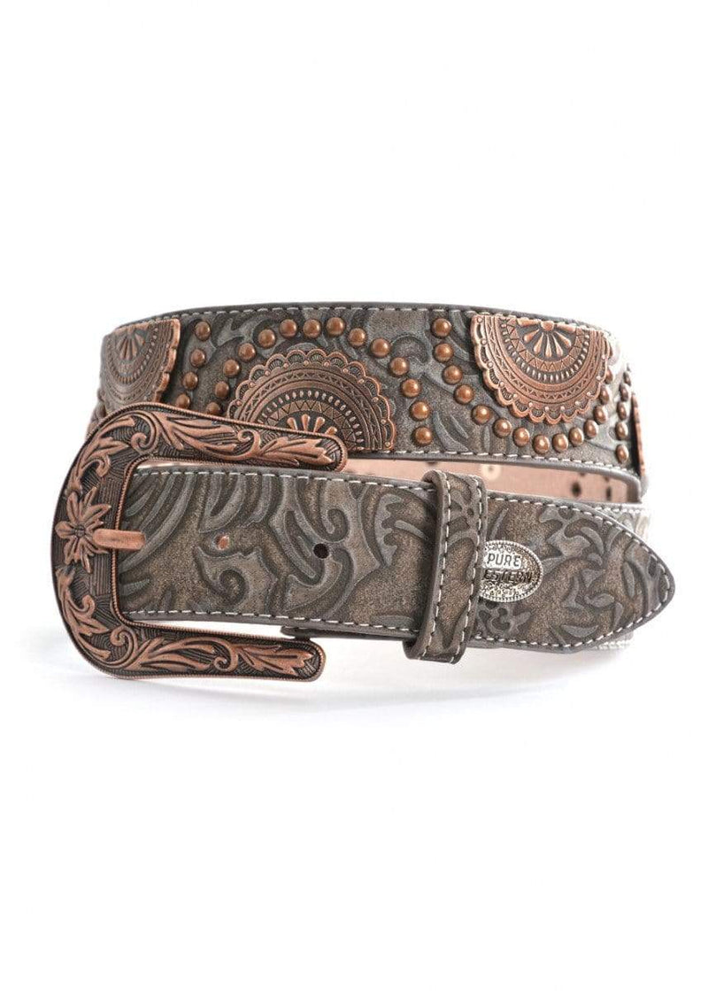 Pure Western Womens Tiana Belt Dark Brown (P9S2905BLT) - Gympie Saddleworld & Country Clothing