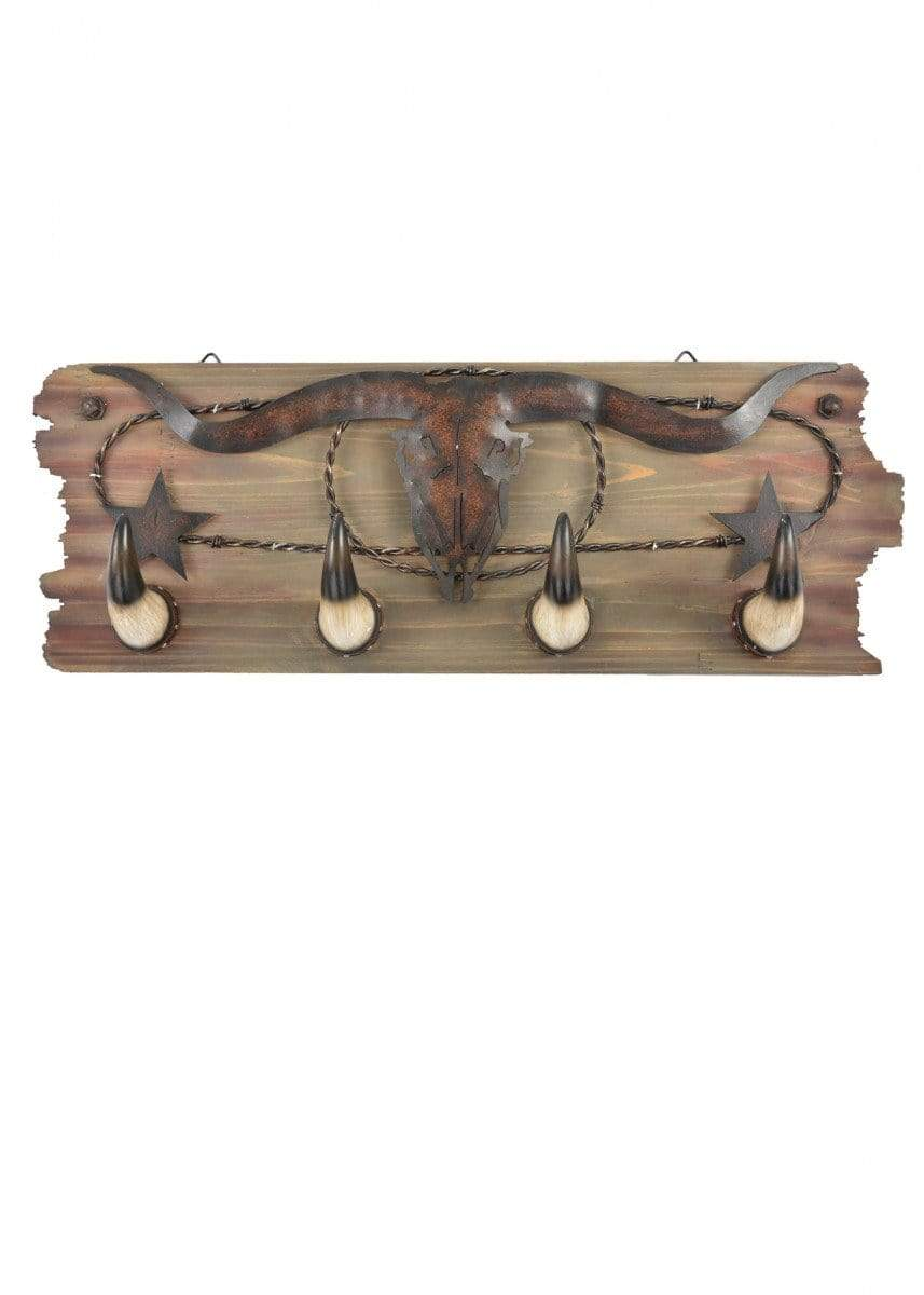 Coat Hook Pure Western Steerhead Horn Hooks P9S1912GFT - Gympie Saddleworld & Country Clothing