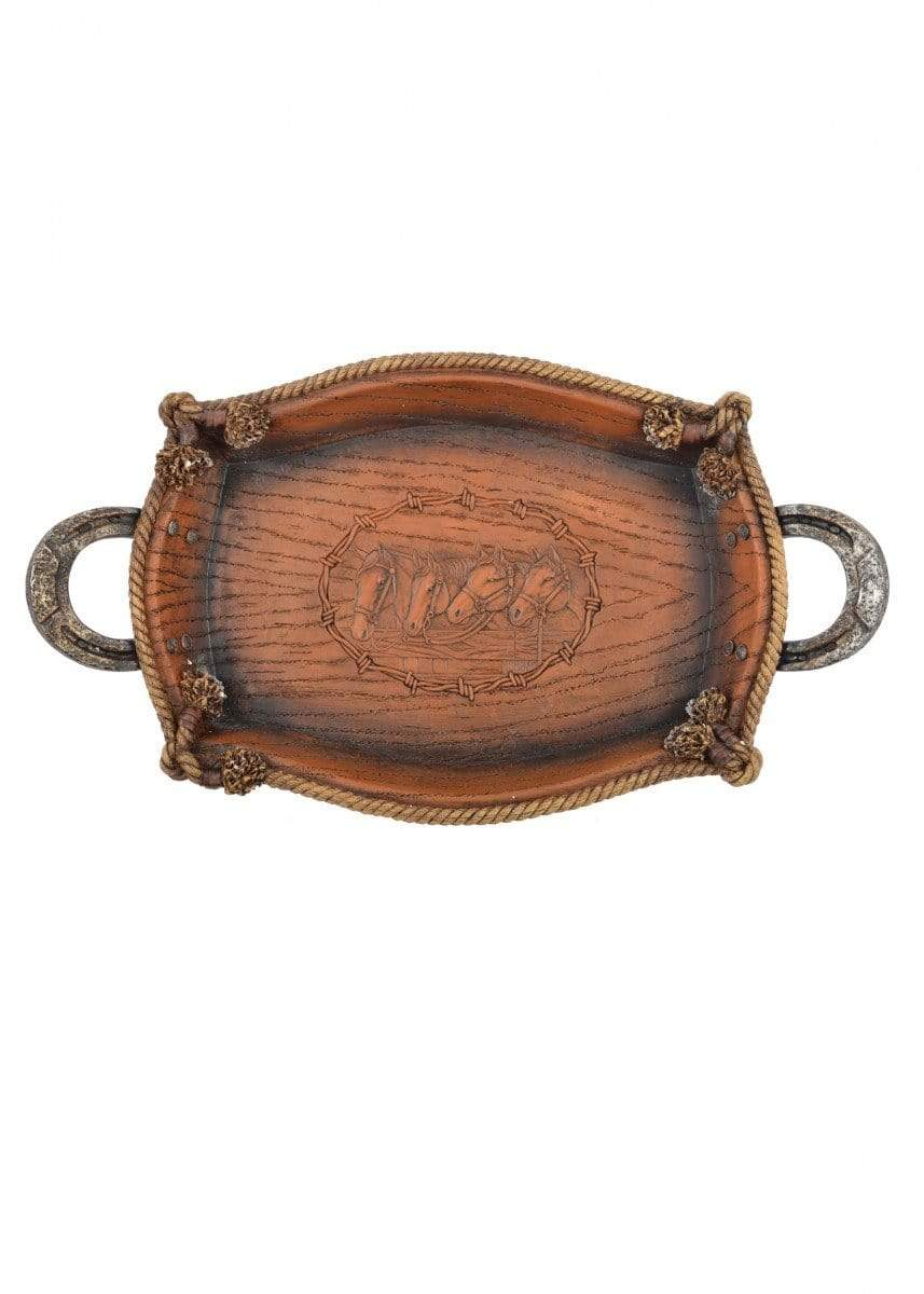 Pure Western Giftware Horseshoe Handle Tray