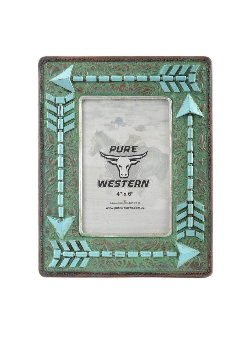 Pure Western Photo Frame Turquoise Arrow P9S1907GFT - Gympie Saddleworld & Country Clothing