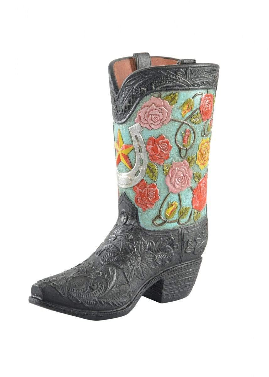 Vase Pure Western Floral Boot P9S1916GFT - Gympie Saddleworld & Country Clothing