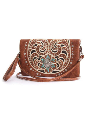 Pure Western Womens Montana Wallet Mid Tan (P9S2998WLT) - Gympie Saddleworld & Country Clothing