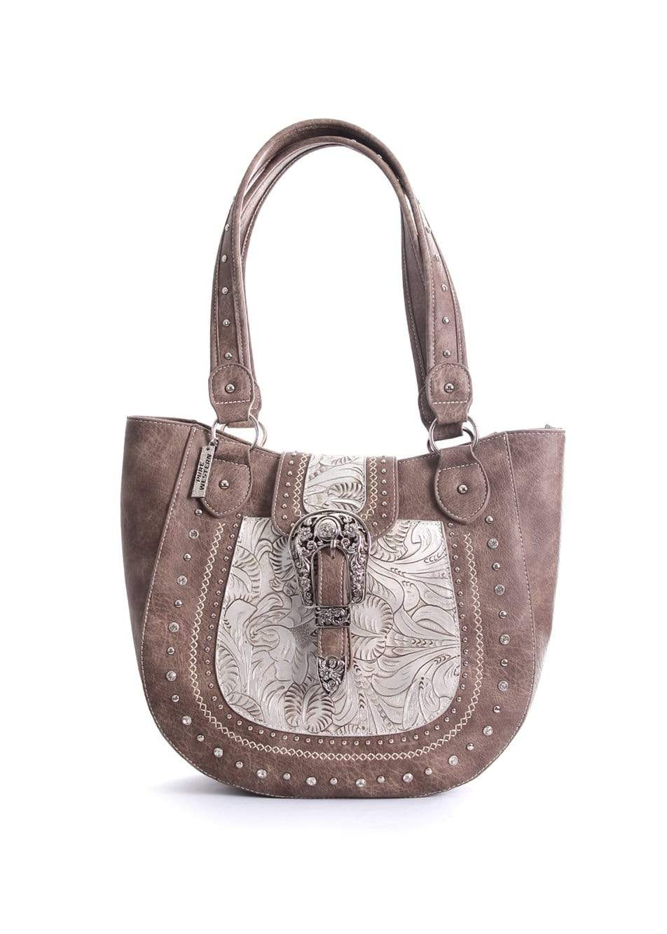 Pure Western Womens Memphis Handbag Mocha (P9S2995HBG) - Gympie Saddleworld & Country Clothing