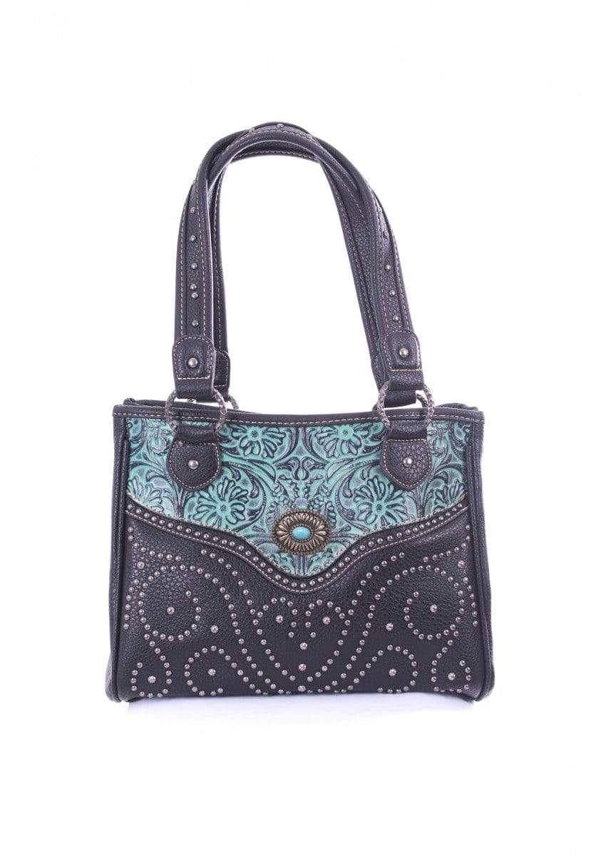 Pure Western Womens Michelle Handbag Turquoise (P9S2916WLT) - Gympie Saddleworld & Country Clothing