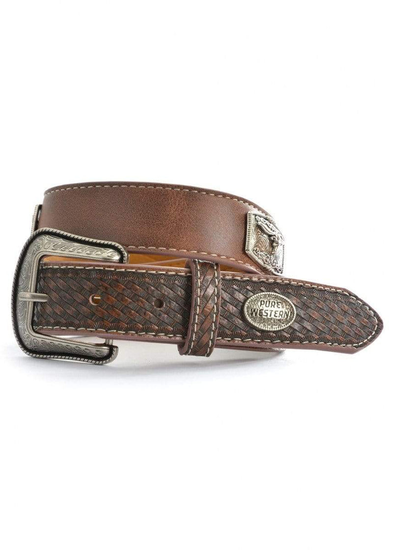 Pure Western Kids Felix Belt Brown (P9S7922BLT) XS - Gympie Saddleworld & Country Clothing
