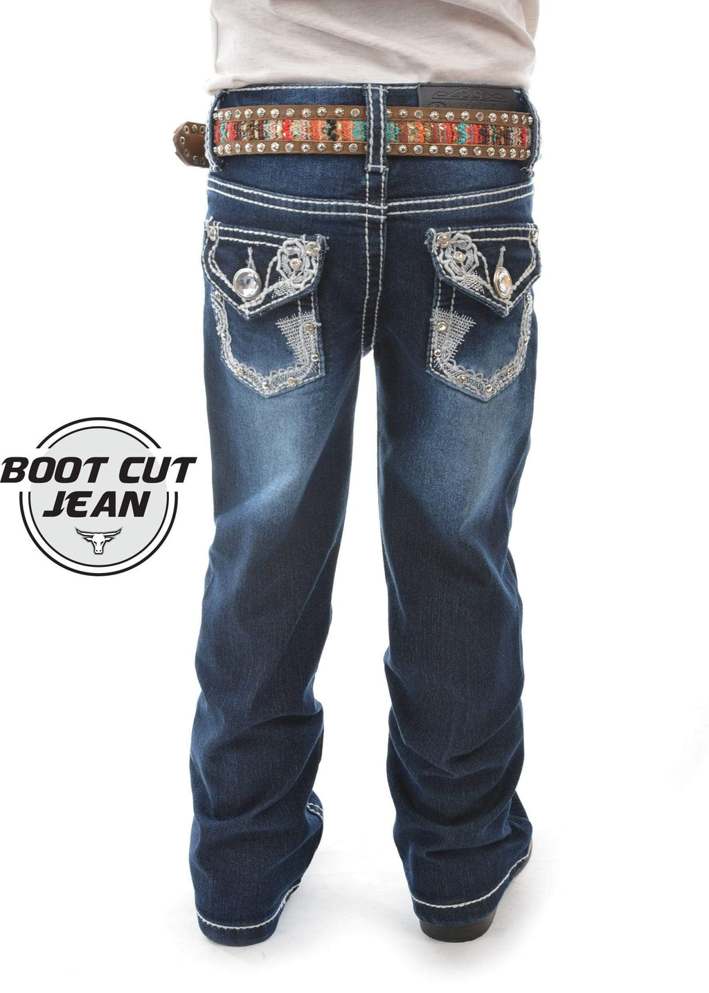 PW PCP5201122 Girls Daisy Boot Cut Jeans - Gympie Saddleworld & Country Clothing
