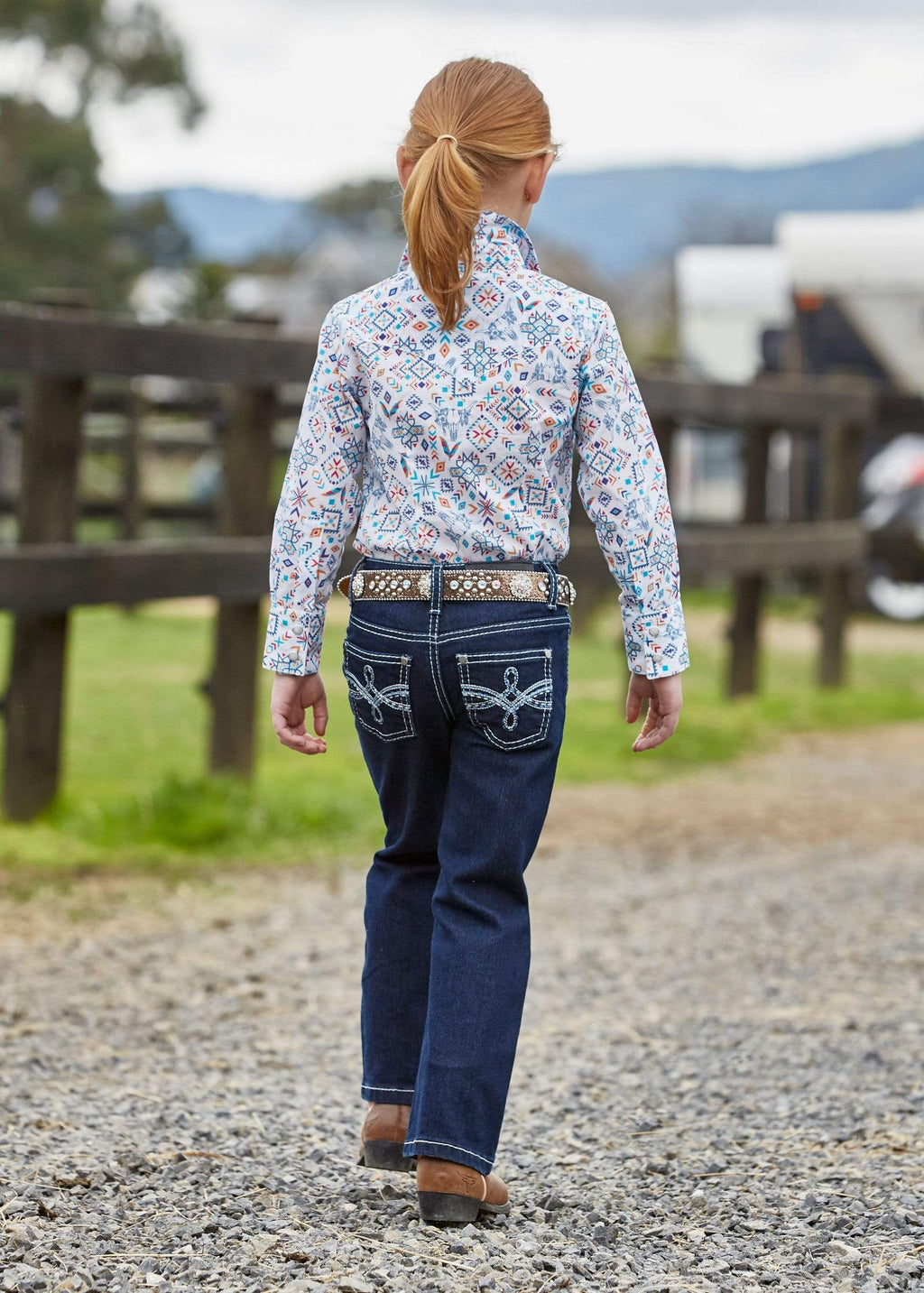 Pure Western Girls Demi Dark Night Jeans (PCP5201245) - Gympie Saddleworld & Country Clothing