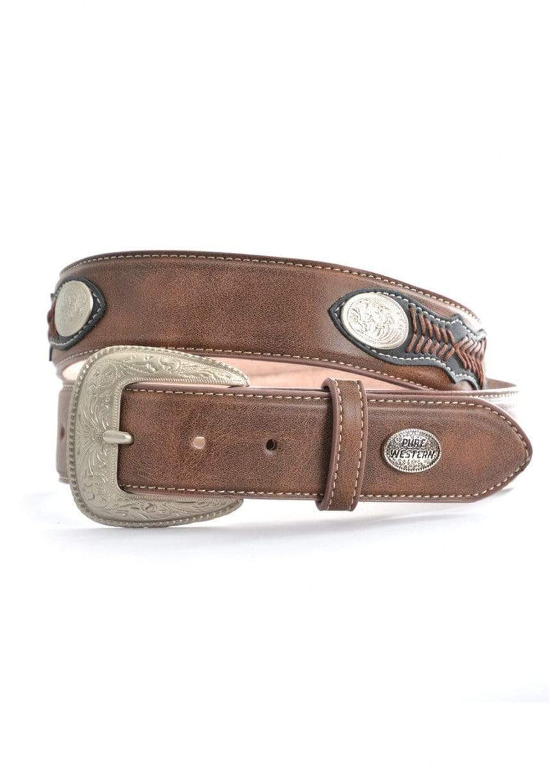 Pure Western Mens Jay Belt Brown (P9S1924BLT) S - Gympie Saddleworld & Country Clothing