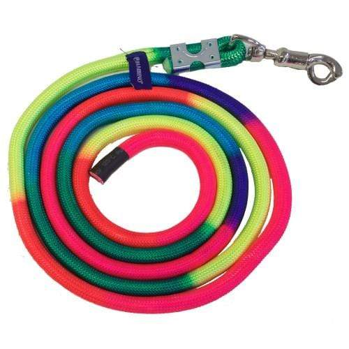 Rancher Rainbow Training Lead 8ft Rainbow - Gympie Saddleworld & Country Clothing