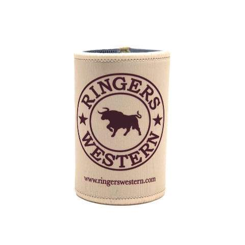 Ringers Western Stubbie Cooler Signature Bull cream - Gympie Saddleworld & Country Clothing