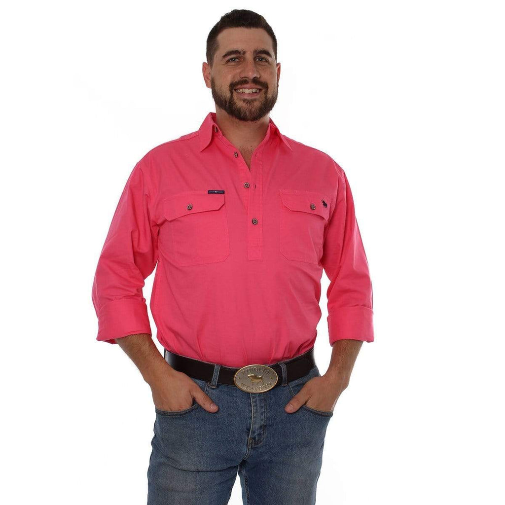 Ringers Western Mens King River Full Button Work Shirt - Gympie Saddleworld & Country Clothing