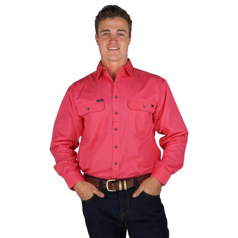 Ringers Western Mens King River Workshirt Navy 171110001 - Gympie Saddleworld & Country Clothing