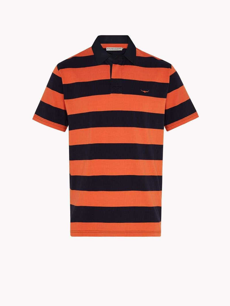 RM Williams Mens Mannum Polo Orange KP21099NR01 - Gympie Saddleworld & Country Clothing