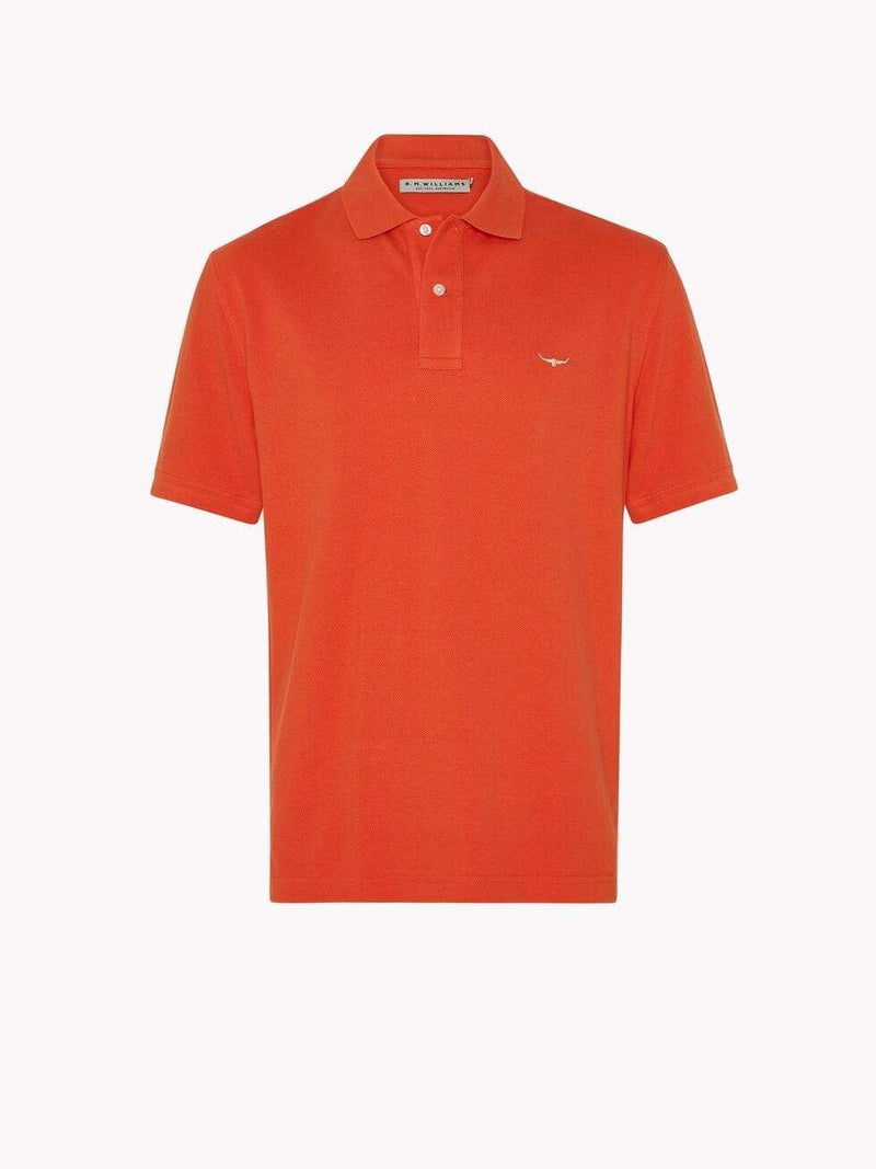 RM Williams Mens Rod Polo Orange KP210982801 - Gympie Saddleworld & Country Clothing