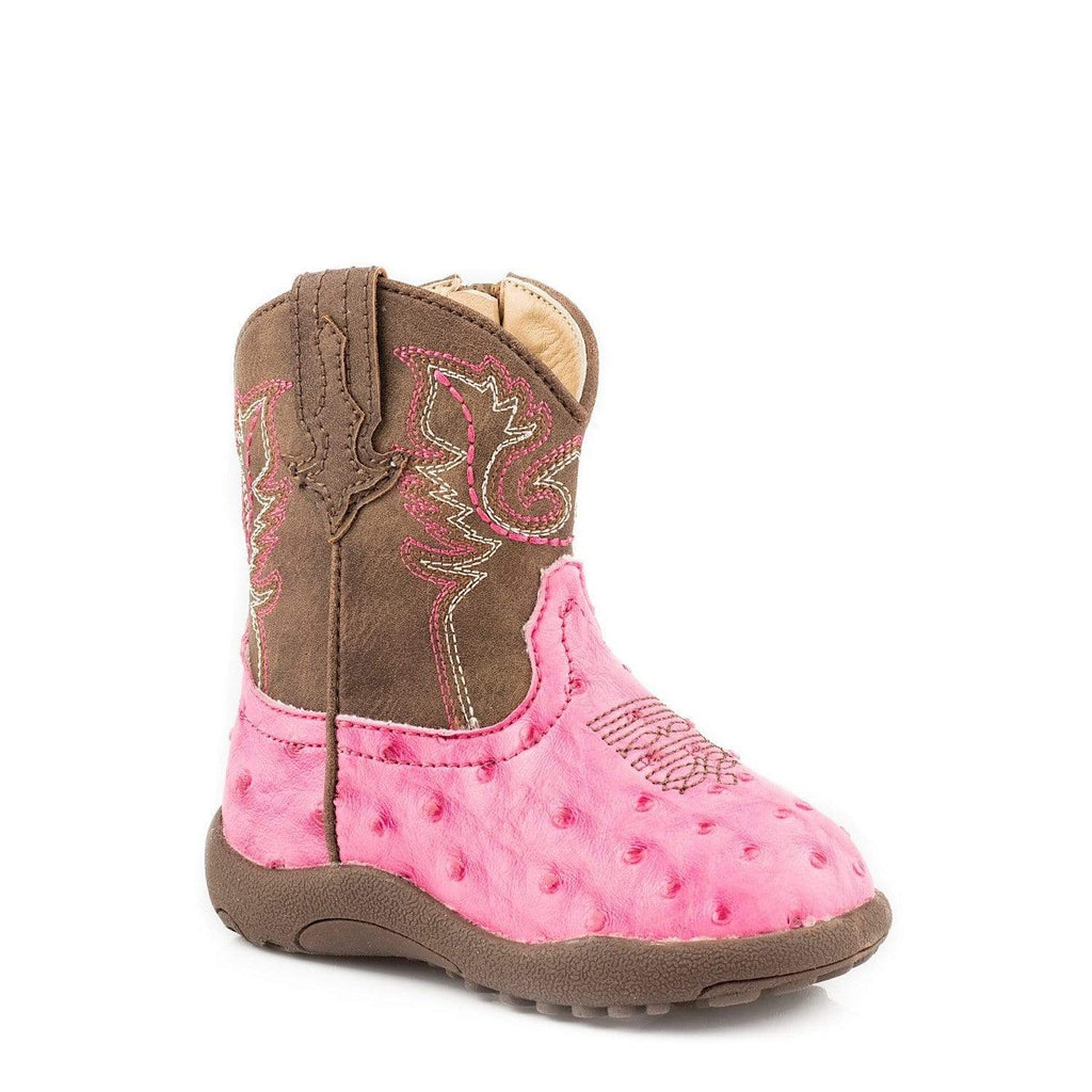 Roper Baby Cowkids 1 (0-3 Months) / Pink Roper Infants Annabelle Pink Boots