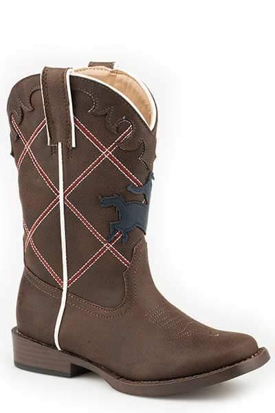 Roper Kids Boots Yeehaw Brown (18902045) - Gympie Saddleworld & Country Clothing