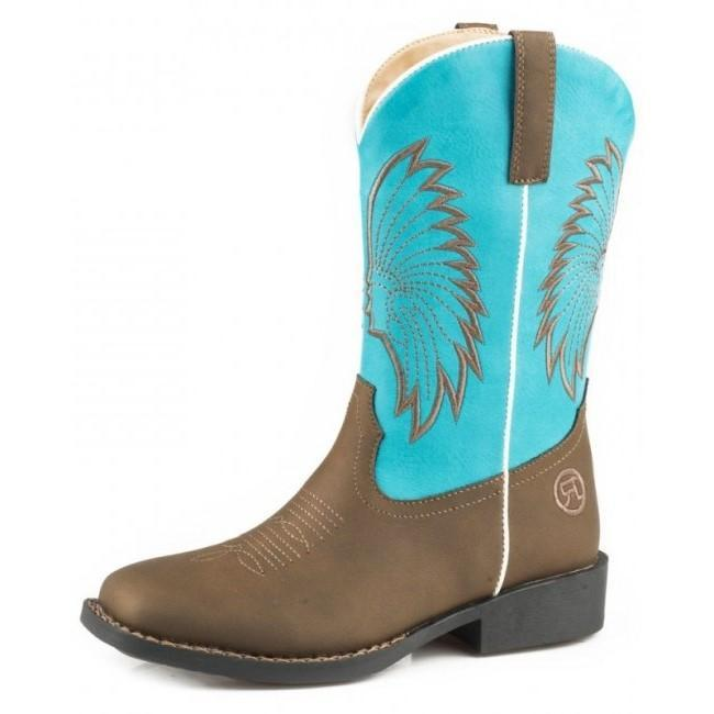 Roper Kids Big Chief Boots Turquoise (18226228) - Gympie Saddleworld & Country Clothing