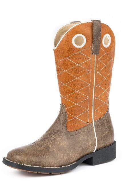 Roper Kids Boots & Shoes CH 1 Roper Kids Boone Boots Brown/Orange 09-018-1224-2202
