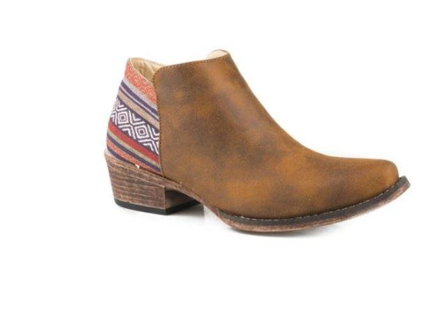 Womens Roper Sedona Boots Brown - Gympie Saddleworld & Country Clothing