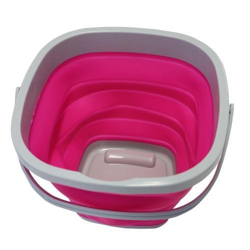 Showmaster Feeders & Water Buckets Grey/Pink Showmaster Collapsible Bucket Pink