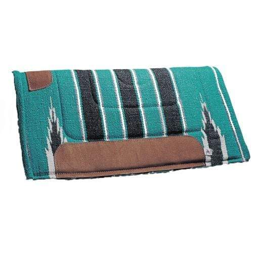 STC Western Saddle Pads 31x31 / Turquoise and Black Pro Cutter Navajo Pad 31in x 31in