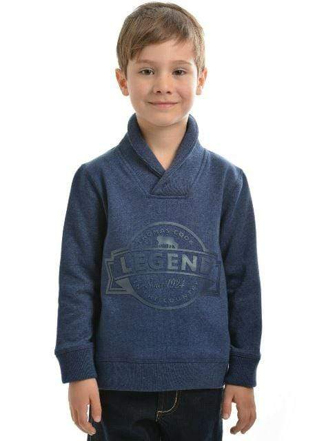 Thomas Cook Boys Shawl Jumper (T8W3514026) - Gympie Saddleworld & Country Clothing