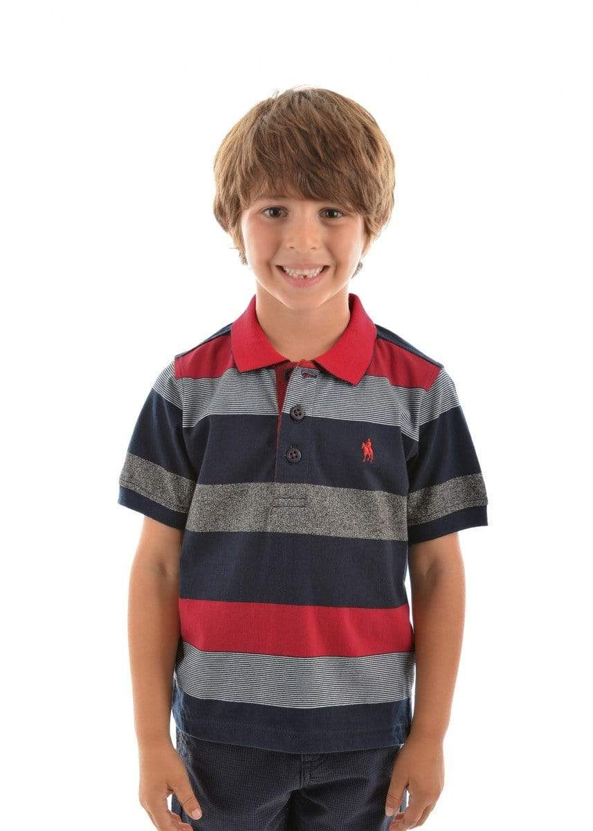 Thomas Cook Kids Tops 10 / Red Polo Thomas Cook T9S3500026 Boys Lewis Stripe Polo Red