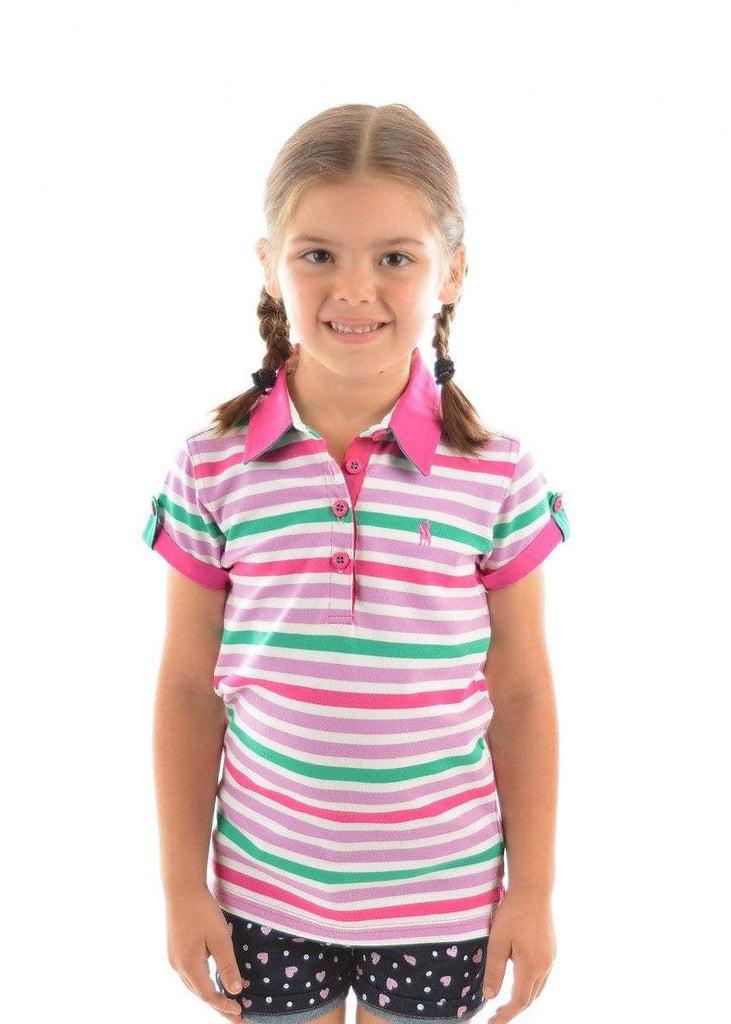 Thomas Cook Kids Tops 12 / Pink/Blue Thomas Cook Girls Harper Polo Pink/Blue