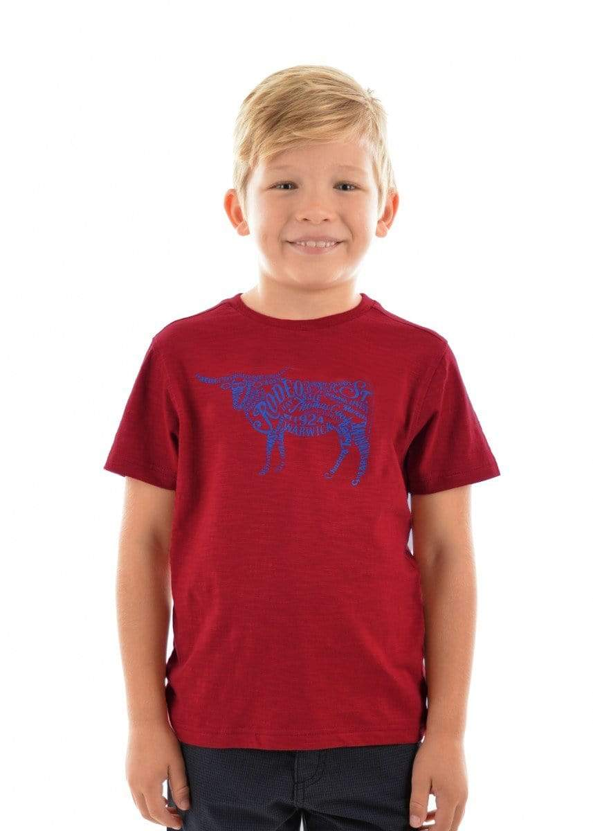 Thomas Cook Kids Tops Tee Thomas Cook T9S3515086 Boys Bulltown Tee Red
