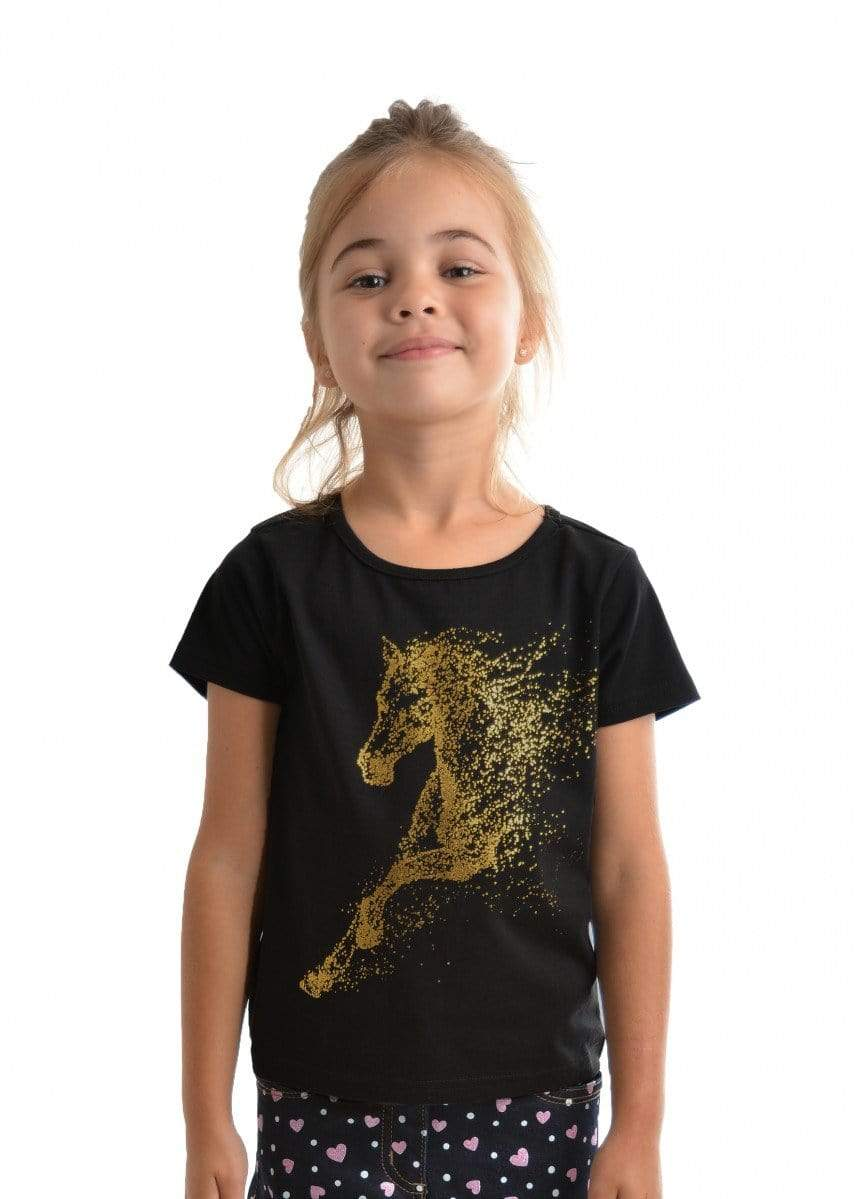 Thomas Cook Kids Tops Tee Thomas Cook T9S5516091 Girls Goldy Tee Black