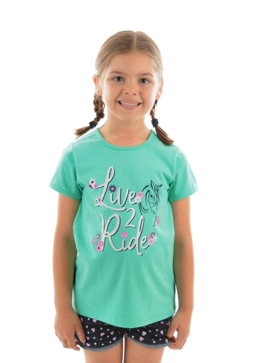 Thomas Cook Kids Tops Tee Thomas Cook T9S5517082 Girls Live 2 Ride Tee Mint