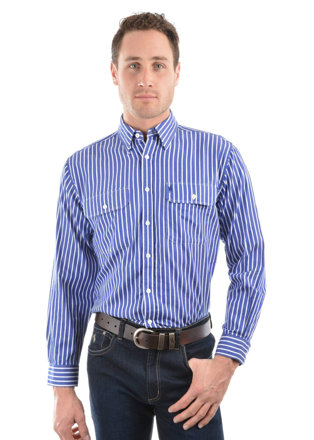 Thomas Cook Mens Winton Stripe Shirt TCP1115160 - Gympie Saddleworld & Country Clothing