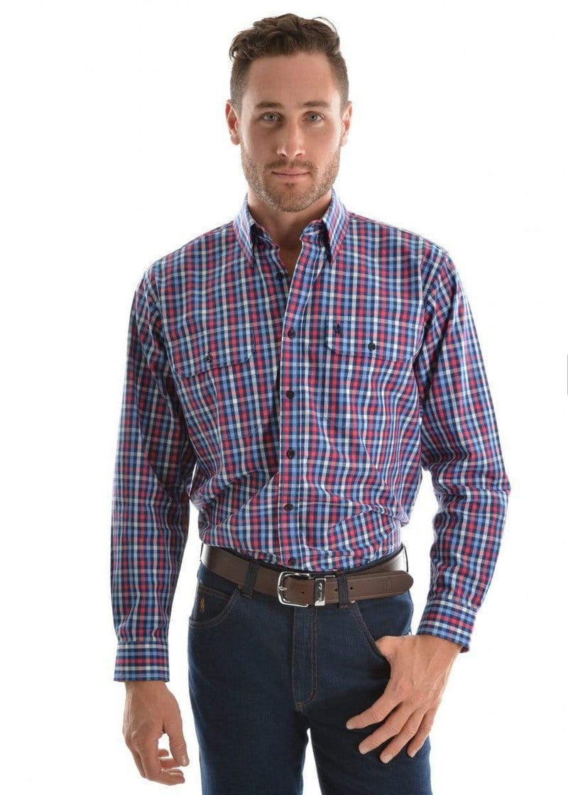 Shirt Thomas Cook T9S1115009 Mens Port Shirt Navy/Red - Gympie Saddleworld & Country Clothing
