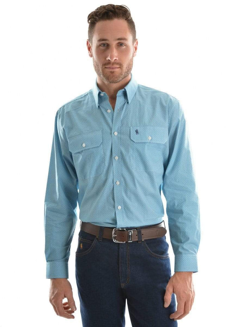 Shirt Thomas Cook T9S1115018 Mens Livingstone Shirt Blue - Gympie Saddleworld & Country Clothing