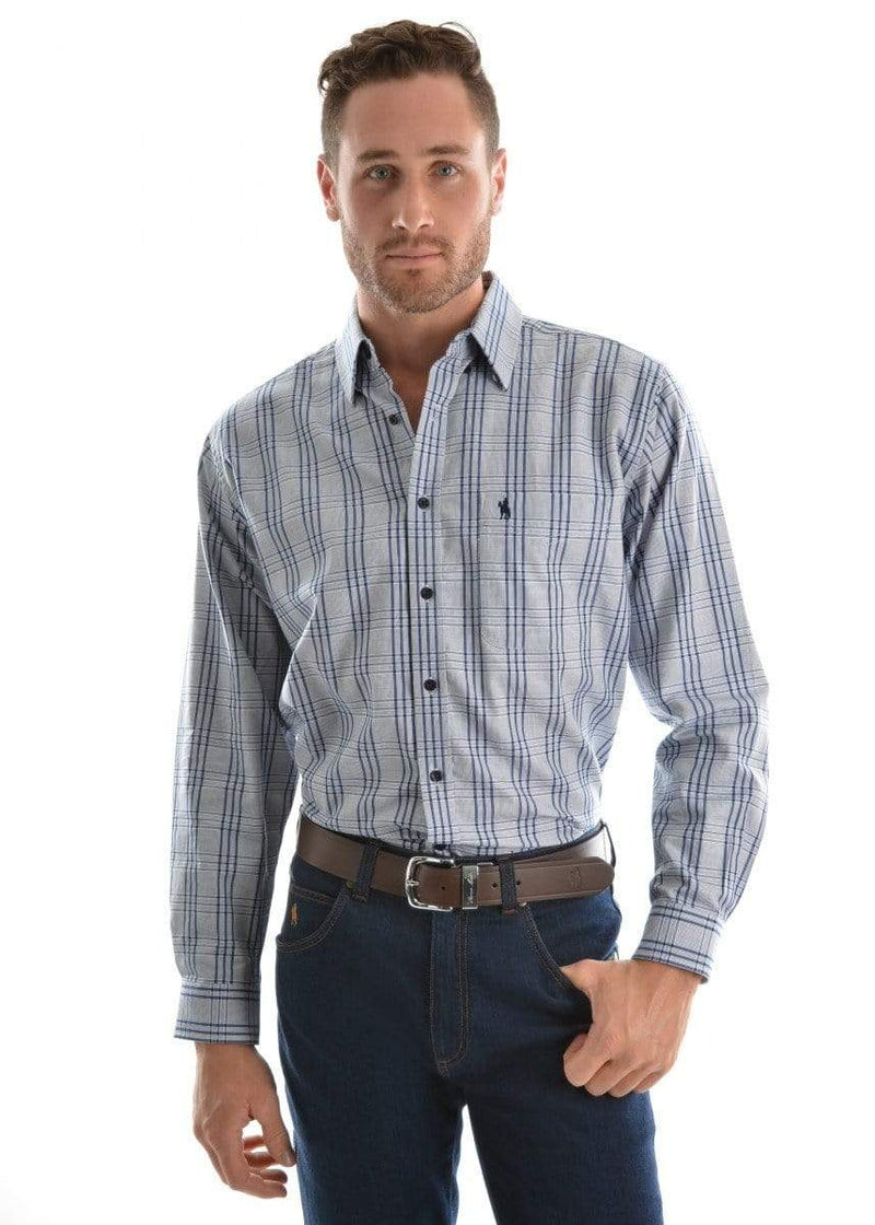 Shirt Thomas Cook T9S1118014 Mens Gregory Navy/Blue - Gympie Saddleworld & Country Clothing