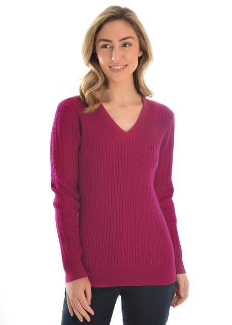 Thomas Cook Womens Cable Jumper - Gympie Saddleworld & Country Clothing