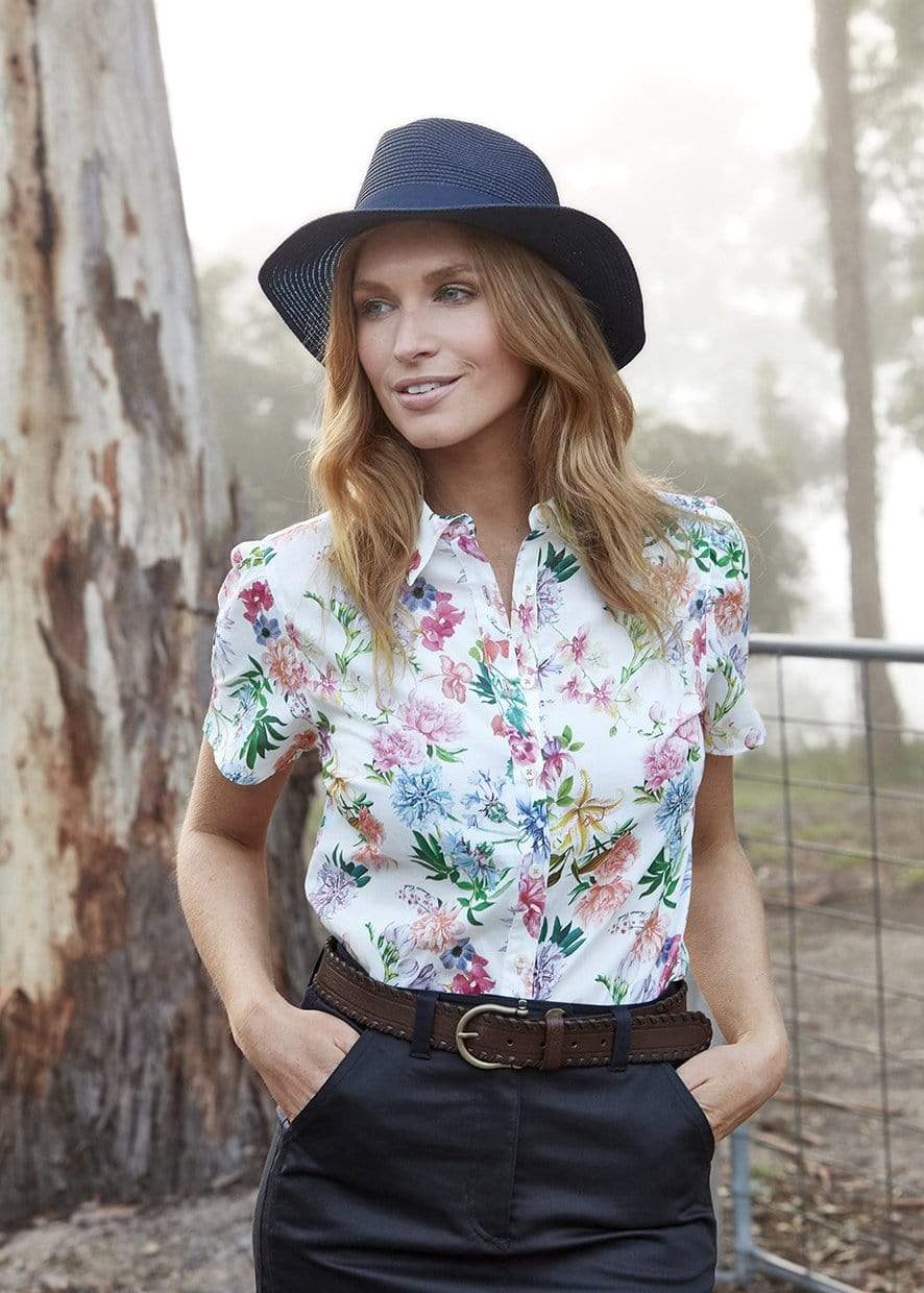 Thomas Cook Womens Armidale SS Shirt Flower Bloom - Gympie Saddleworld & Country Clothing