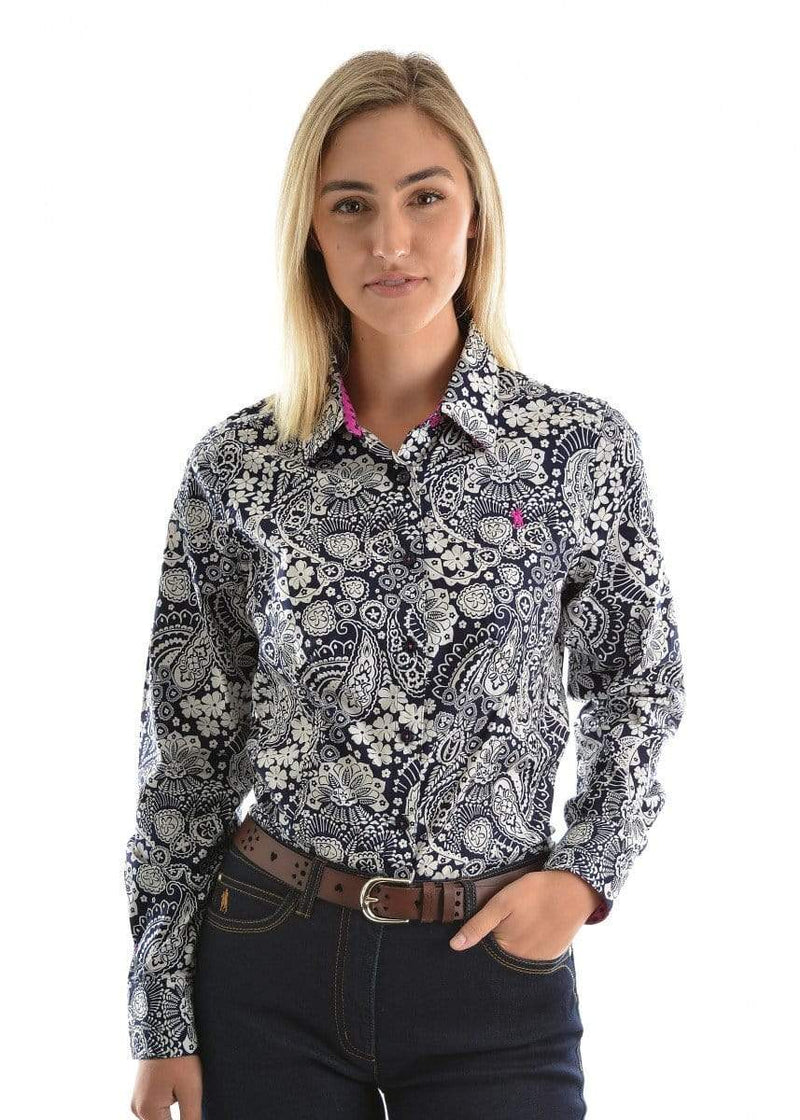 Thomas Cook Womens Kelly Long Sleeve Shirt Navy - Gympie Saddleworld & Country Clothing