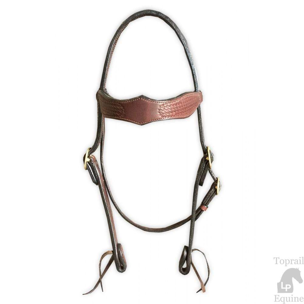 Toprail Bridle Daimond Western with Basket Tooling (2902A) - Gympie Saddleworld & Country Clothing