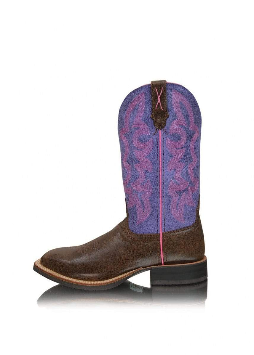 Twisted X Womens Ruff Stock Boots Brown Purple (TCWRS0002) - Gympie Saddleworld & Country Clothing