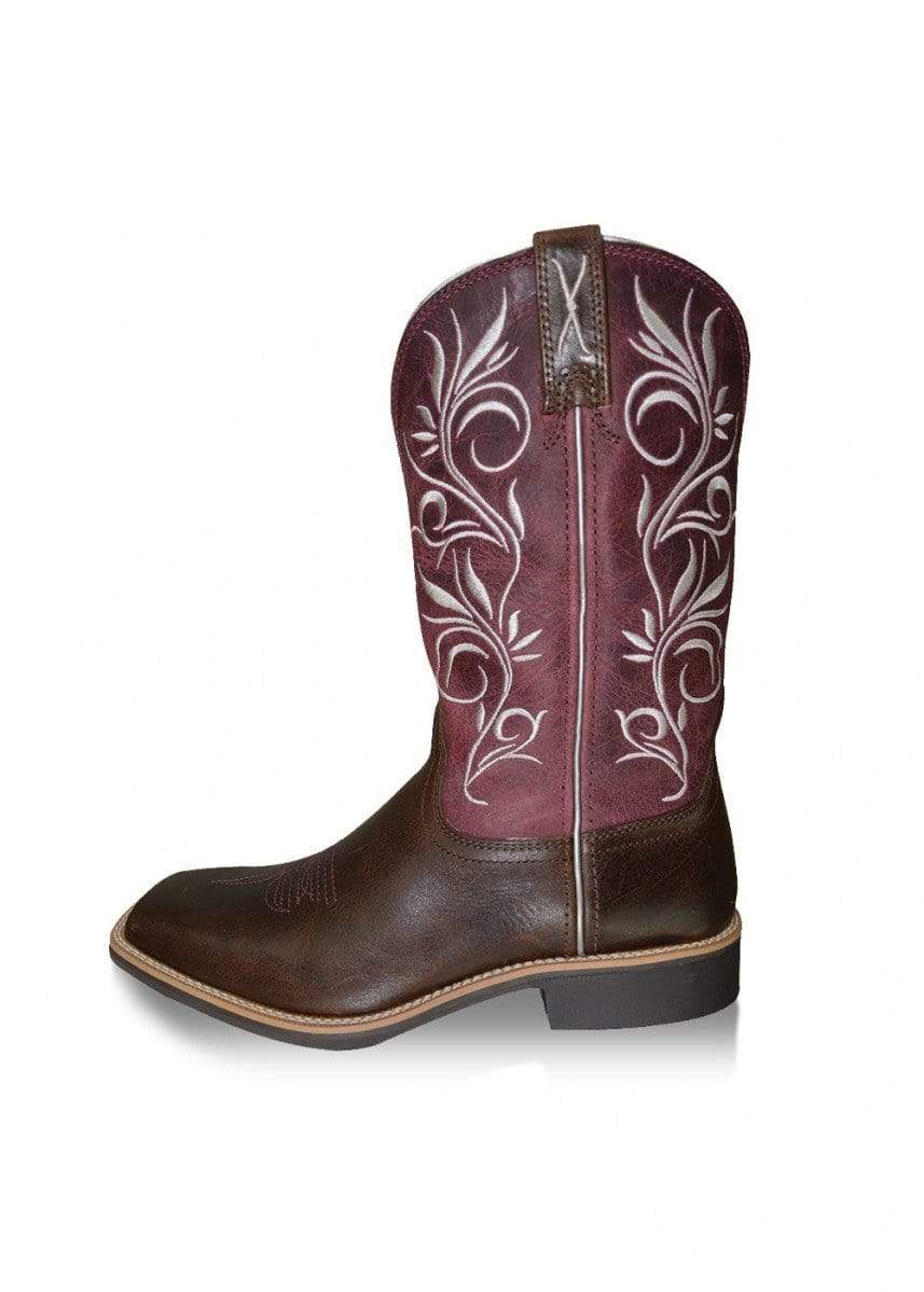 Twisted X Womens Top Hand Boots Chocolate Maroon (TCWTH0010) - Gympie Saddleworld & Country Clothing