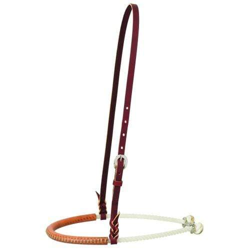 Noseband Weaver WEA30-0144 Leather Cover Single Rope - Gympie Saddleworld & Country Clothing