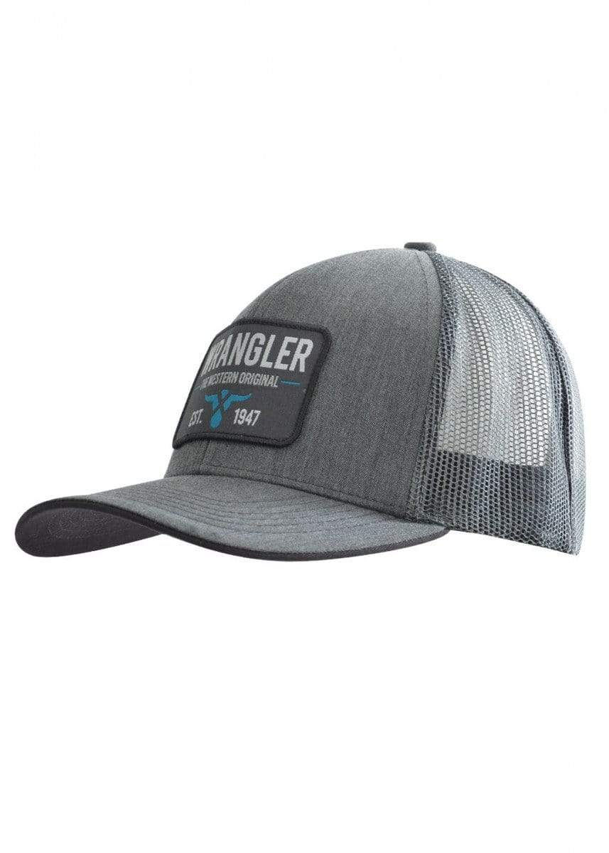 Wrangler Mens Stephen Trucker Cap Grey Marle - Gympie Saddleworld & Country Clothing
