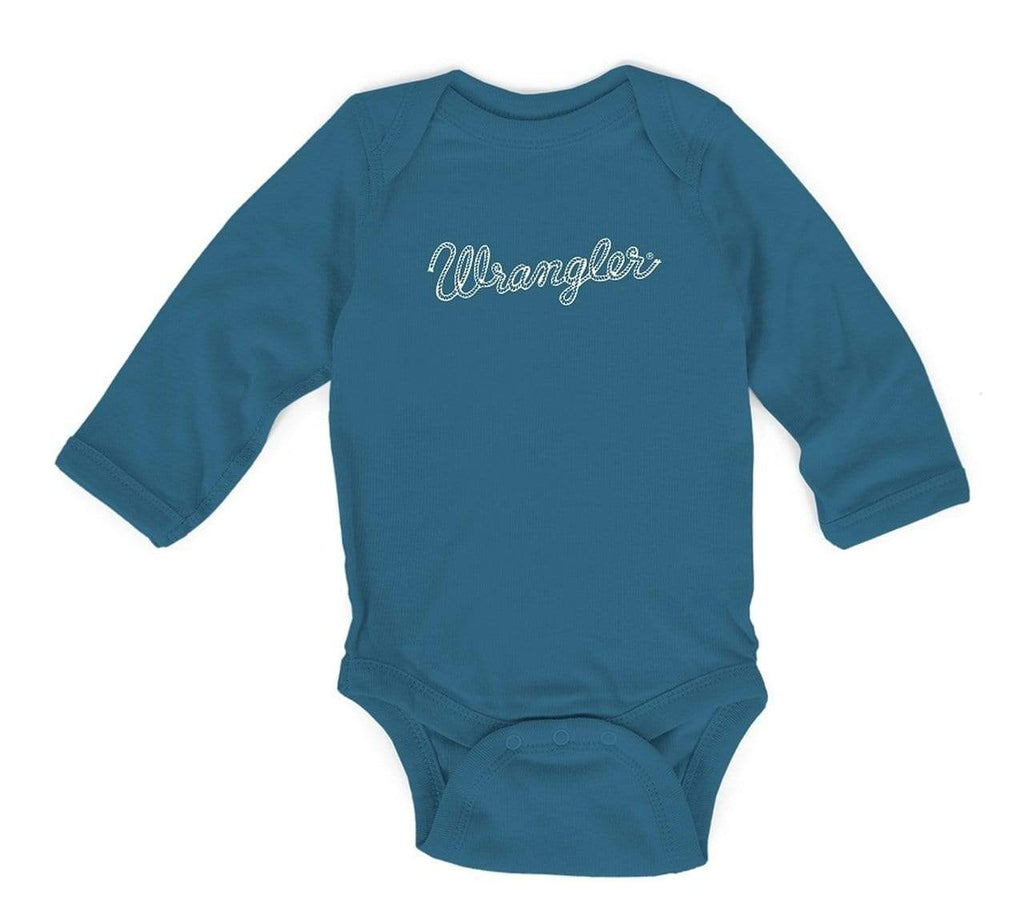 Wrangler Kids Tops 0-3 Month / Dark Teal Baby Boy Logo Bodysuit Dark Teal