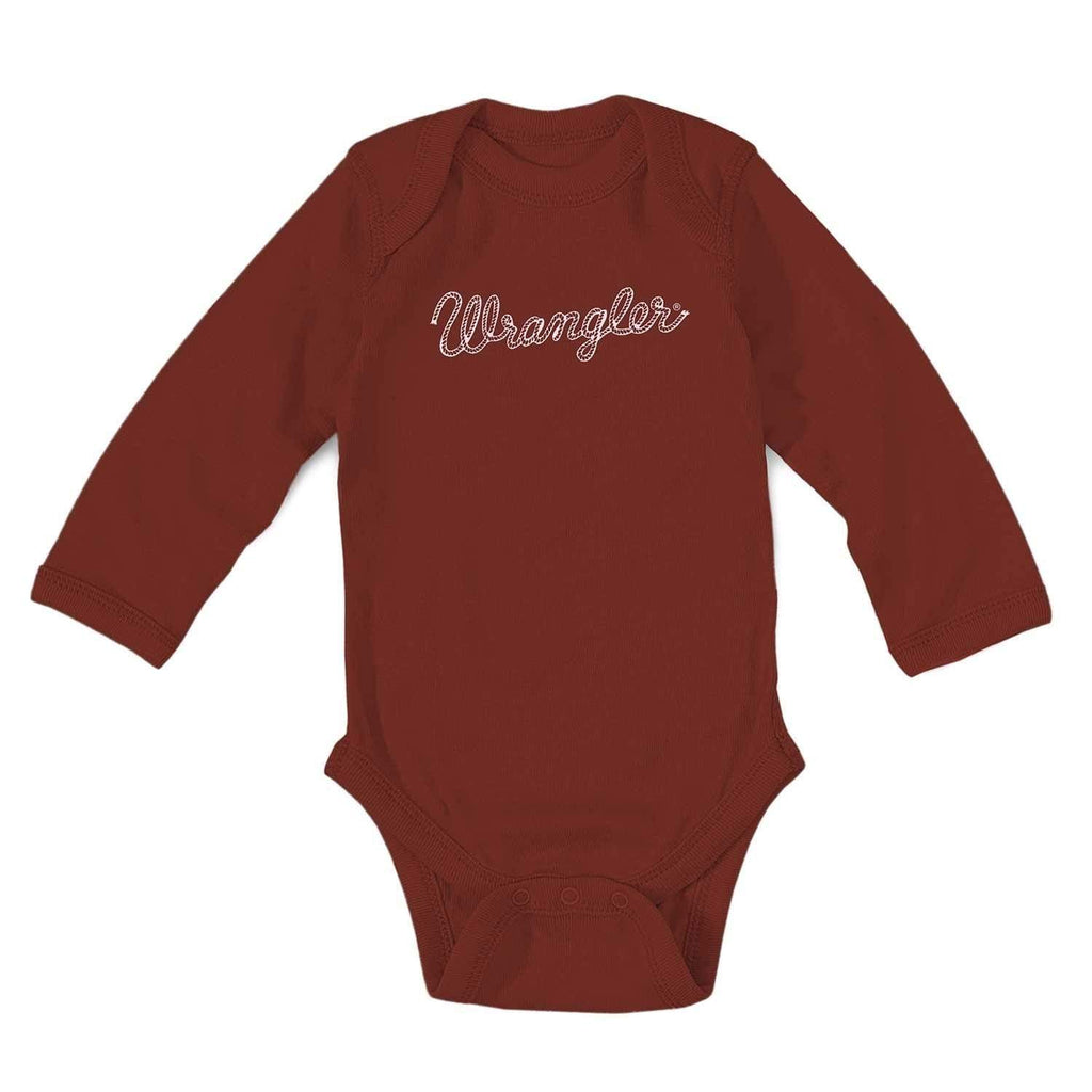 Wrangler Kids Tops 0-3 Month / Red Baby Girl Logo Bodysuit Red