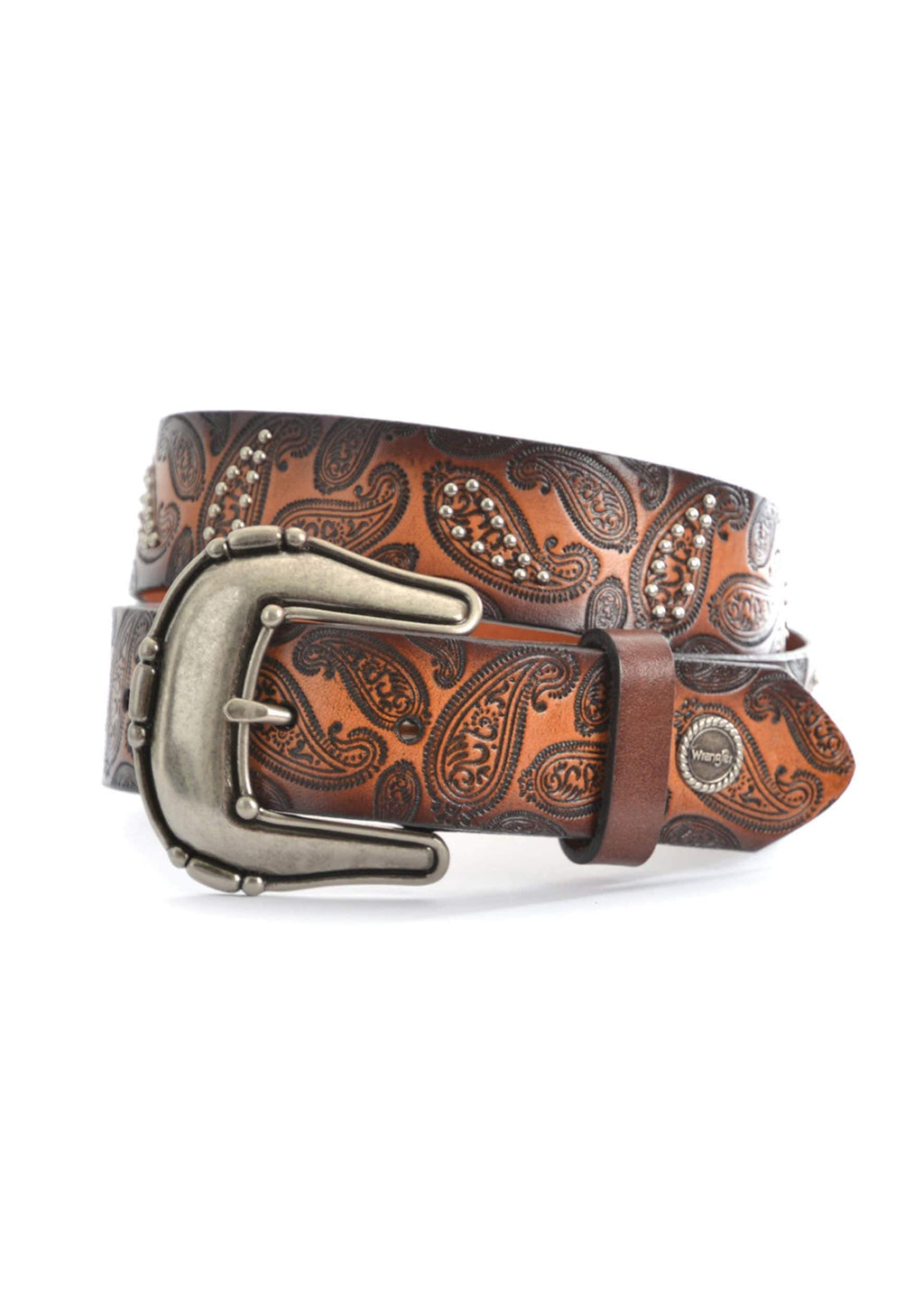 Wrangler Womens Paisley Belt Dark Tan/Coffee - Gympie Saddleworld & Country Clothing