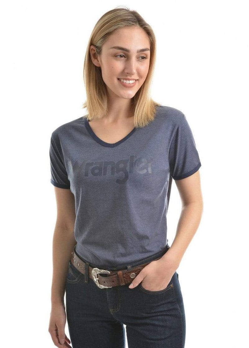 Wrangler Selina Shirt Womens Denim Marle (XCP2570373) - Gympie Saddleworld & Country Clothing