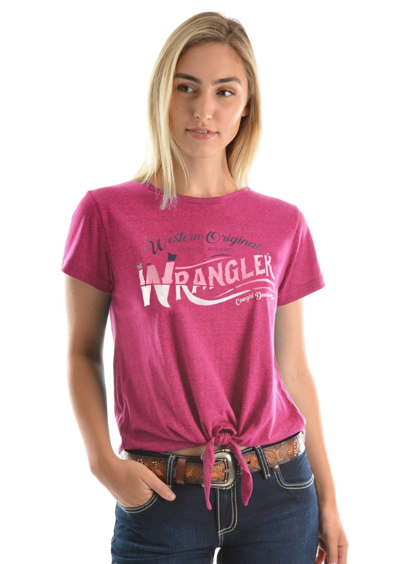 Wrangler Womens Carnie Top Fuscia - Gympie Saddleworld & Country Clothing